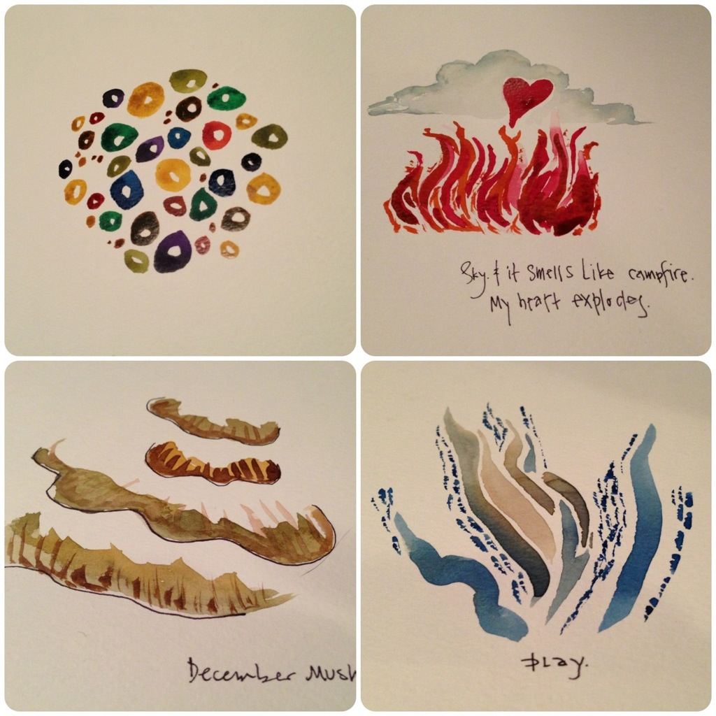 4 watercolors by sara mcguyer