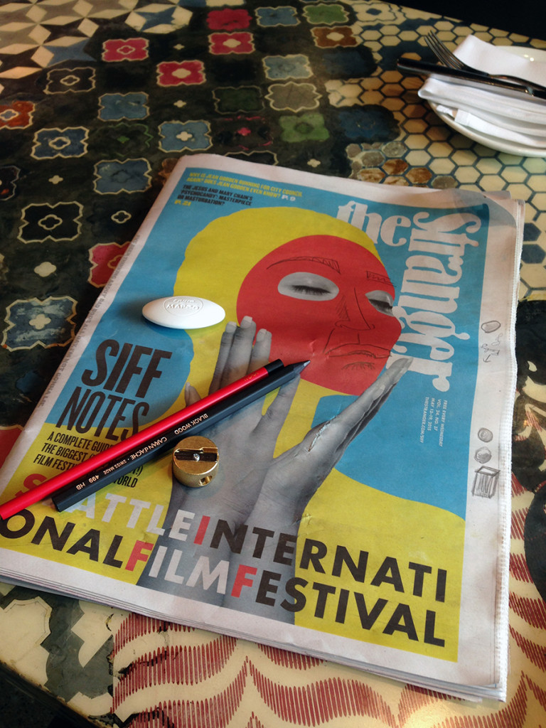 Doodling on the SIFF cover.